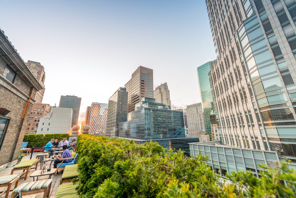 Rooftop gardens in Manhattan, New York. Image via PisaPhotography.